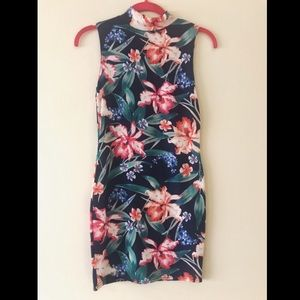 ASOS Club L highneck floral dress